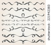 calligraphic elements and page... | Shutterstock .eps vector #221942383