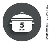 boil 5 minutes. cooking pan...