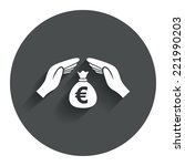 protection money bag sign icon. ...