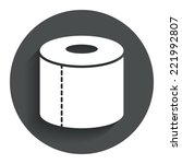 toilet paper sign icon. wc roll ...
