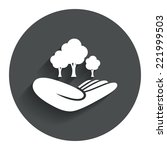 save forest sign icon. hand...