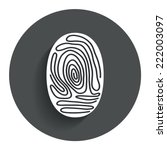 fingerprint sign icon....