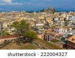 sunset view city kerkyra from... | Shutterstock . vector #222004327