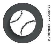 baseball ball sign icon. sport...