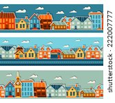 town seamless patterns with... | Shutterstock .eps vector #222007777