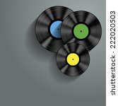 musical concept with vinyl disc | Shutterstock .eps vector #222020503