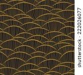 abstract geometric art deco... | Shutterstock .eps vector #222026077