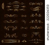 vector set of calligraphic... | Shutterstock .eps vector #222026353