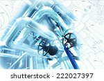 sketch of piping design mixed... | Shutterstock . vector #222027397