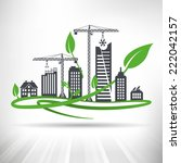 green urban development concept....   Shutterstock .eps vector #222042157
