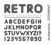 retro marquee font | Shutterstock .eps vector #222048967