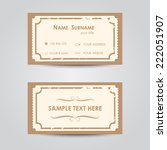 vintage business card template  ...