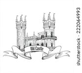 Castle Logo. Retro Vector...