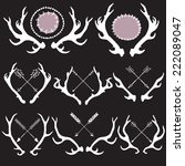 vector antlers with arrows
