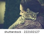 Woman With Adorable Cat
