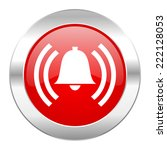 alarm red circle chrome web... | Shutterstock . vector #222128053
