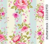 luxurious peony wallpaper in... | Shutterstock .eps vector #222131953