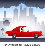 polluting environment car... | Shutterstock .eps vector #222133603
