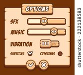 option menu wooden style game...