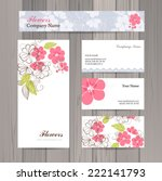 set of business card and... | Shutterstock .eps vector #222141793