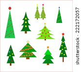 christmas tree display on a... | Shutterstock .eps vector #222172057