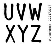 hand written graffiti font type ... | Shutterstock .eps vector #222173317