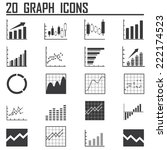 line chart and diagram  icons...