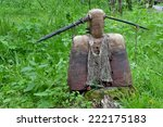 Small photo of Averter of evil spirits indigenous inhabitants of Siberia.Magic item with the capacity to protect its owner from different disasters.Museum-reserve Tomskaya Pisanitsa.June 21, 2014