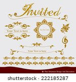 vector set of thai ornament... | Shutterstock .eps vector #222185287