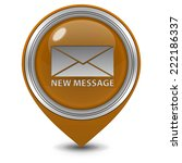 new message pointer icon on... | Shutterstock . vector #222186337