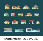 set of vector flat design... | Shutterstock .eps vector #222197257