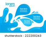 swirl design layout template ... | Shutterstock .eps vector #222200263