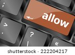 allow words concept with key on ... | Shutterstock . vector #222204217