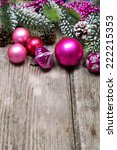 christmas decoration on a... | Shutterstock . vector #222215353