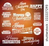 typographic thanksgiving design ... | Shutterstock .eps vector #222227293