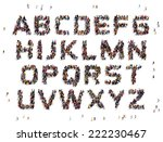 Letters Of The Alphabet Formed...