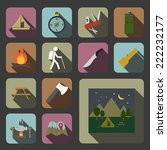 camping equipment icon   Shutterstock .eps vector #222232177