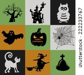 halloween collection of icons   ... | Shutterstock .eps vector #222233767