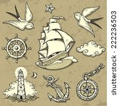 set of vector illustrations on... | Shutterstock .eps vector #222236503
