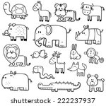 vector illustration of cartoon... | Shutterstock .eps vector #222237937