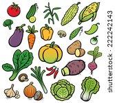 vector illustration of cartoon... | Shutterstock .eps vector #222242143