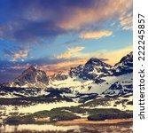 eeriness mountain landscape ... | Shutterstock . vector #222245857