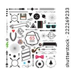 65 design elements  black and... | Shutterstock .eps vector #222269233