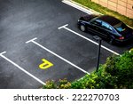 look down empty parking spot... | Shutterstock . vector #222270703