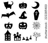 hand drawing cartoon halloween... | Shutterstock .eps vector #222285403