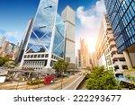 modern city streets  hong kong  ... | Shutterstock . vector #222293677