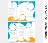 brochure design template twist... | Shutterstock .eps vector #222297127
