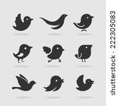 symbol set bird
