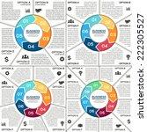 vector circle arrows... | Shutterstock .eps vector #222305527