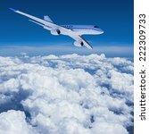 private jet in flight | Shutterstock . vector #222309733